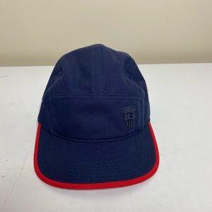 Vintage Nike US soccer snap hat blue